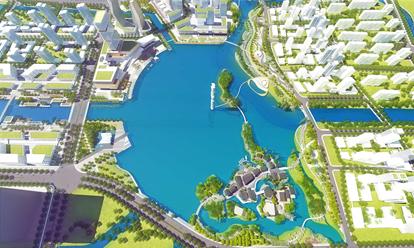 宁波市东部新城明湖北区工程