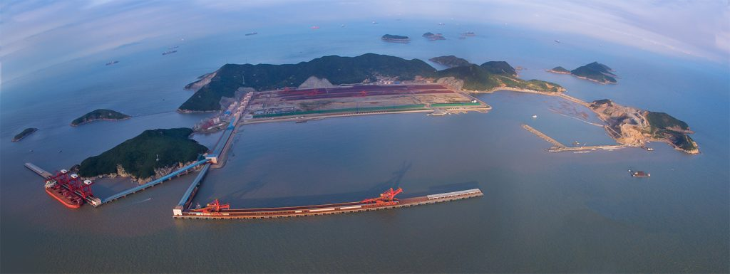 浙江舟山港衢山港区鼠浪湖矿石中转码头工程项目