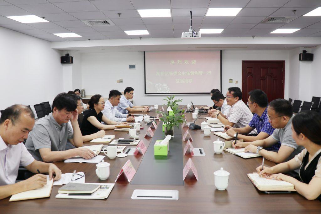 宁波国家高新区党工委书记、管委会主任黄利琴一行莅临公司调研指导