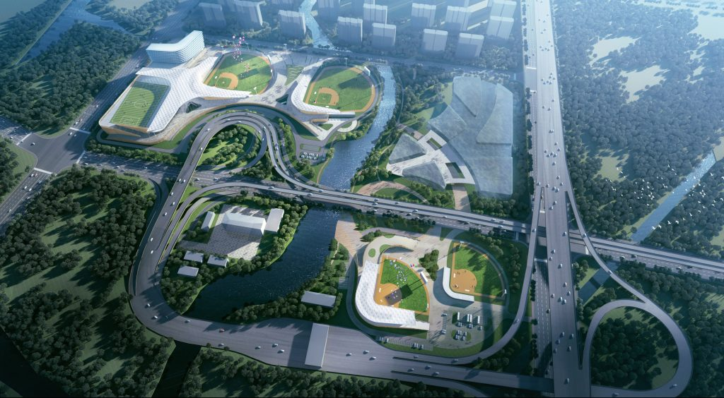 亚运会棒垒球体育中心全景图(全过程工程咨询)